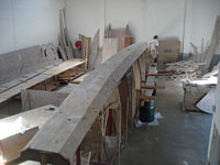 Lower side planks attached